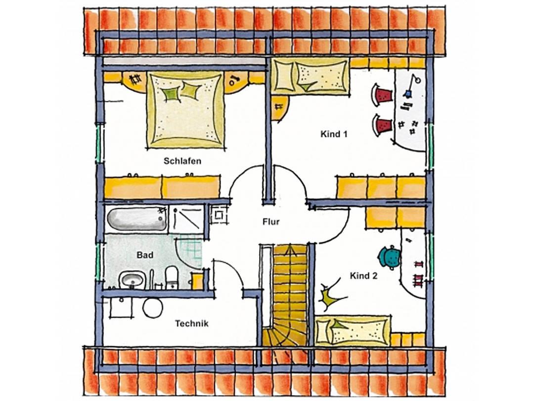 Haus Vario Trend Grundriss Dachgeschoss