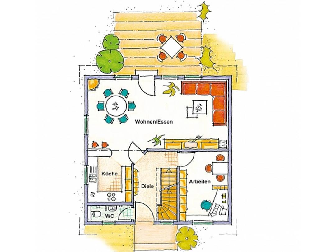 Haus Vario trend Grundriss Erdgeschoss