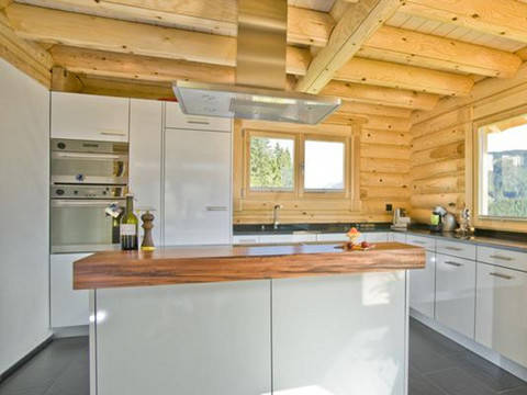 Haus Alpine Chalet von Honka Blockhaus Ansicht Küche