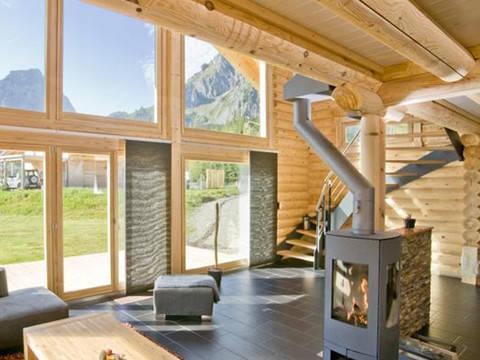 Haus Alpine Chalet von Honka Blockhaus Ansicht Wohnbereich