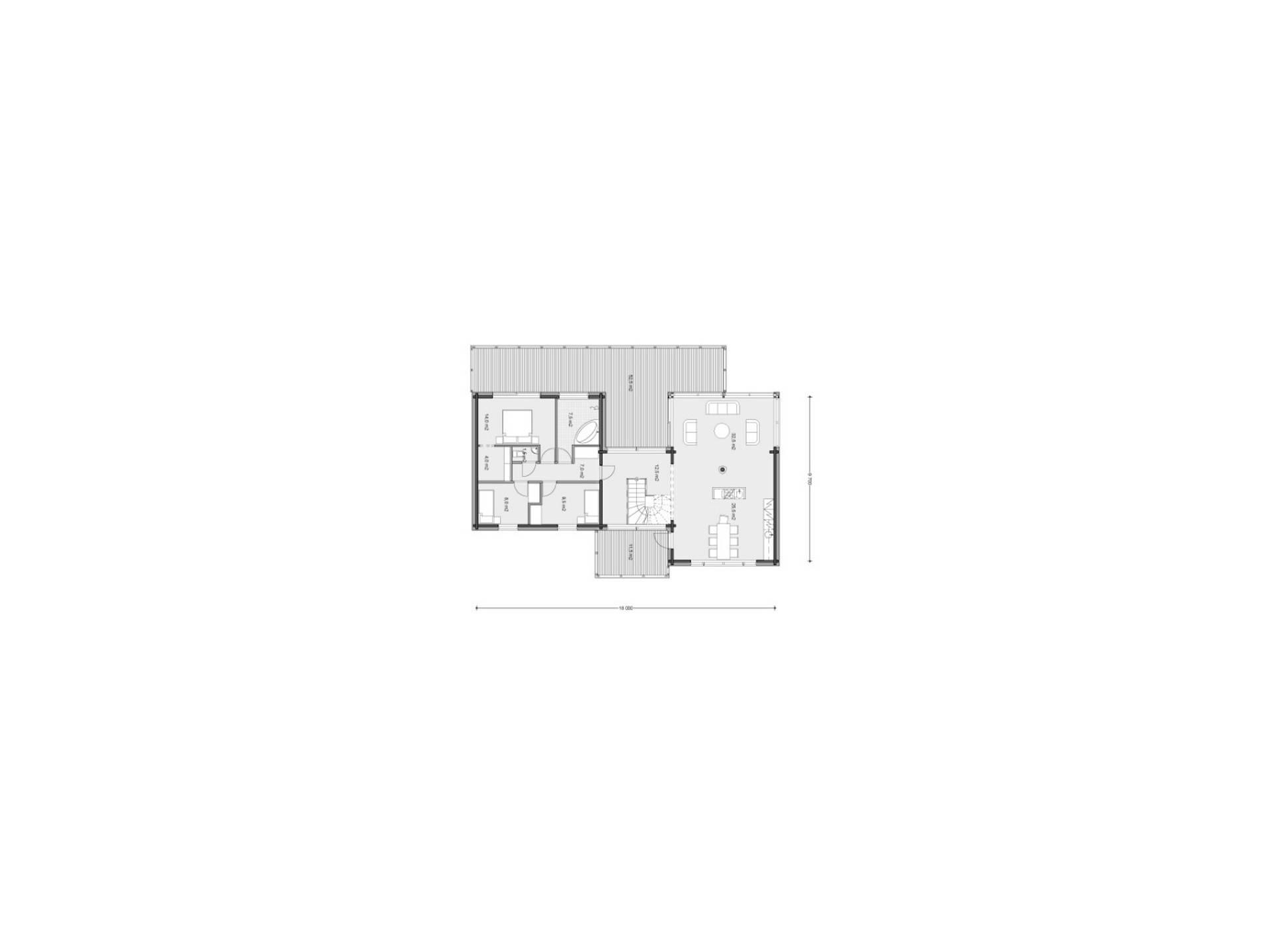 Haus Bretagne von Honka Haus, Grundriss