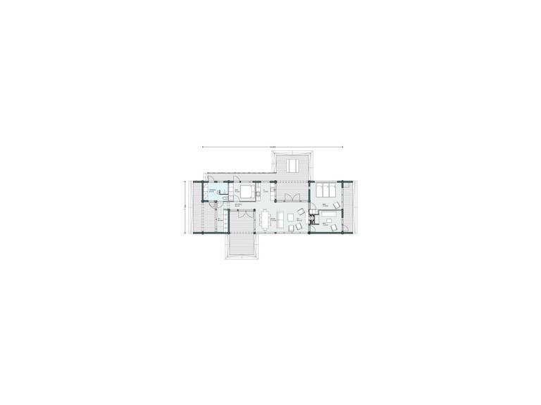 Haus Lokki von Honka Blockhaus, Grundriss