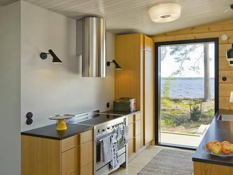 Haus Lokki von Honka Blockhaus, Ansicht Küche