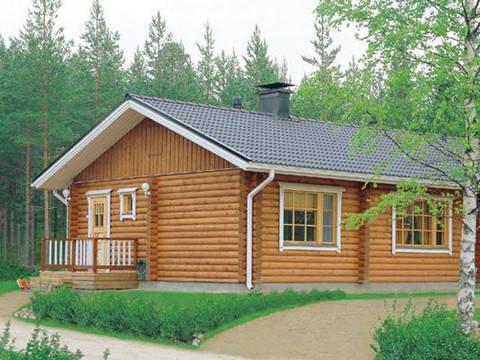 Haus Harjut von Honka Blockhaus, Aussenansicht