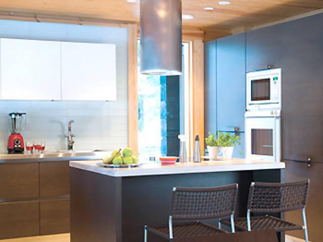 Haus Harjut von Honka Blockhaus, Küche