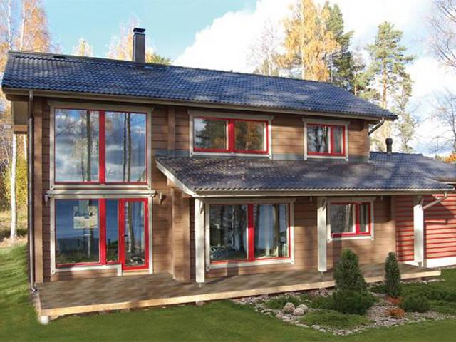 Haus kumpare honka blockhaus for Skandinavisches haus bauen