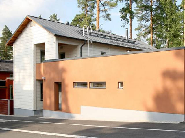 Haus Rock von Honka Blockhaus, Aussenansicht