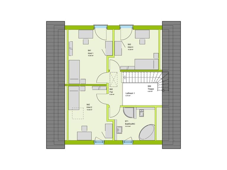 Massa Haus LifeStyle 2 Grundriss DG