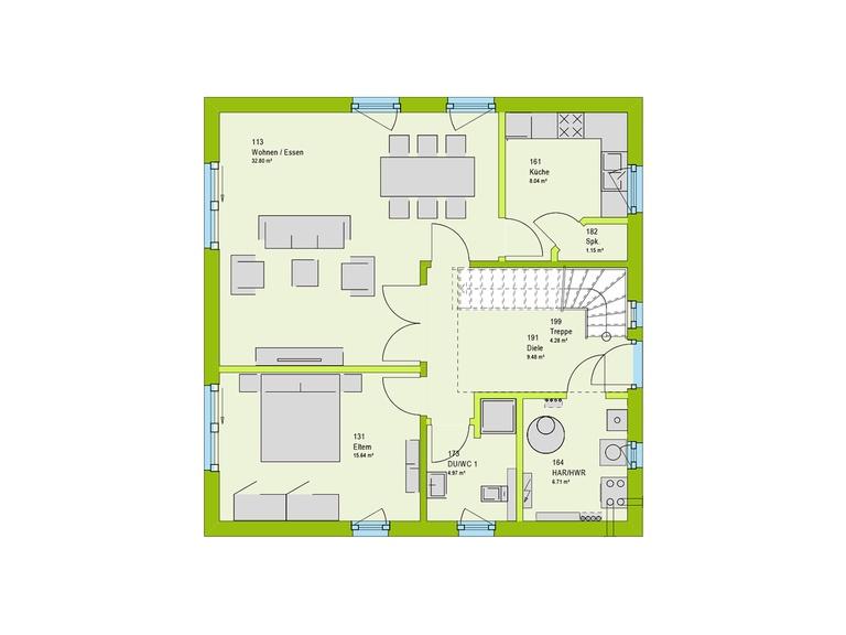 Massa Haus LifeStyle 2 Grundriss EG
