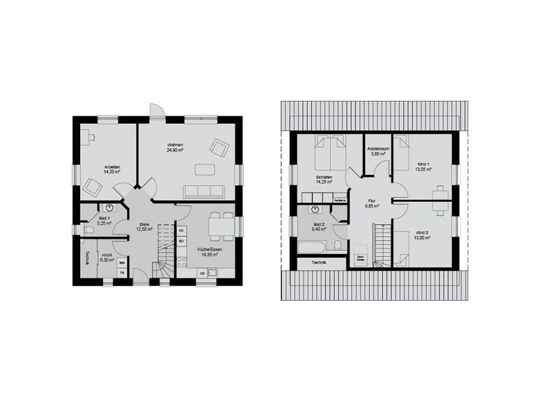 Familienhaus 176 Grundriss