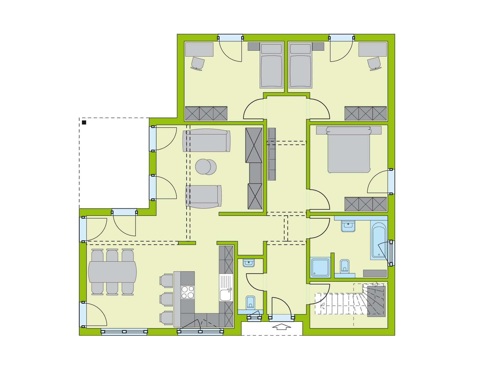 Haus LifeStyle 33 Grundriss EG von massa haus