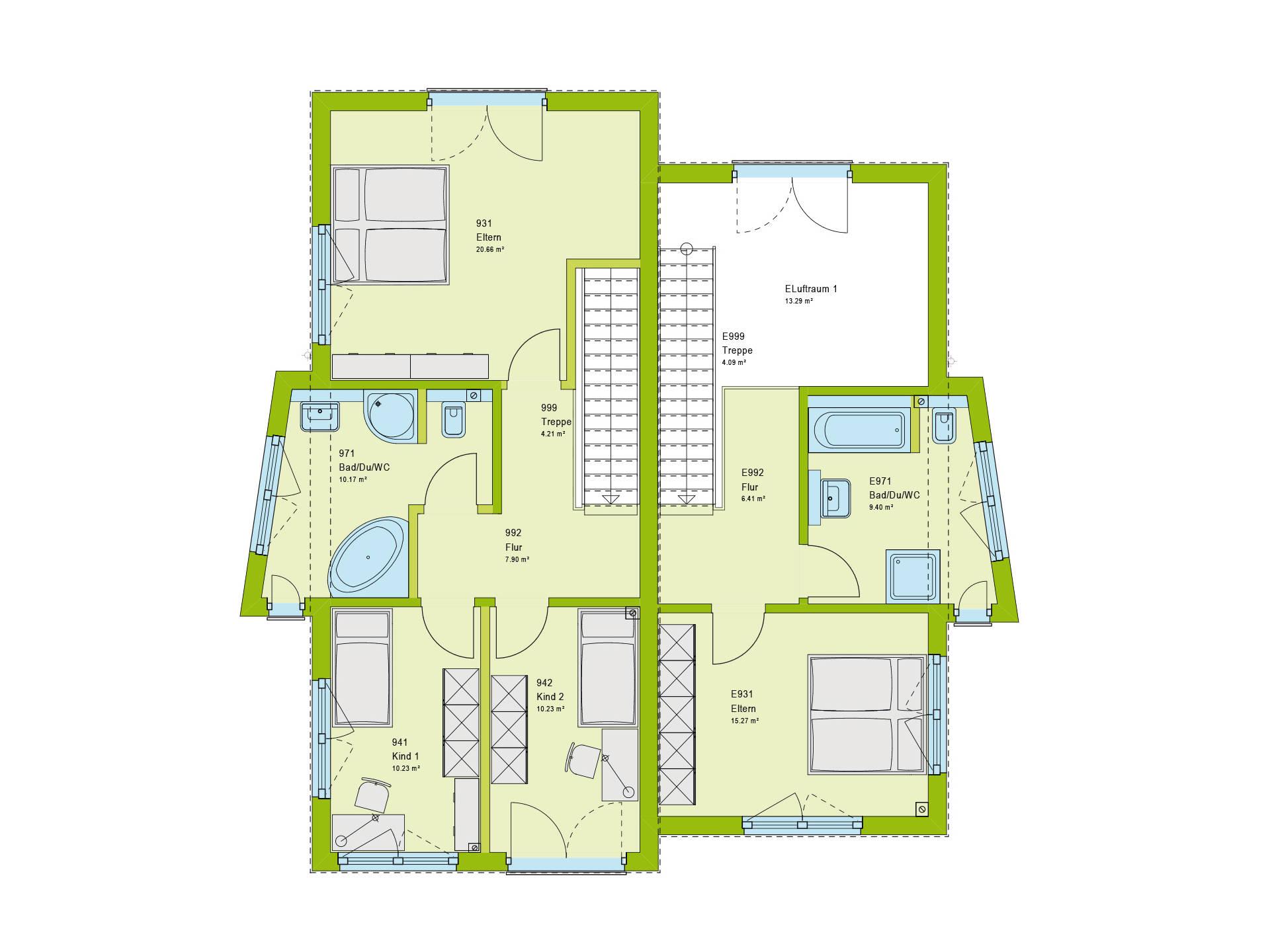 Haus Unique 2 Grundriss DG von massa haus