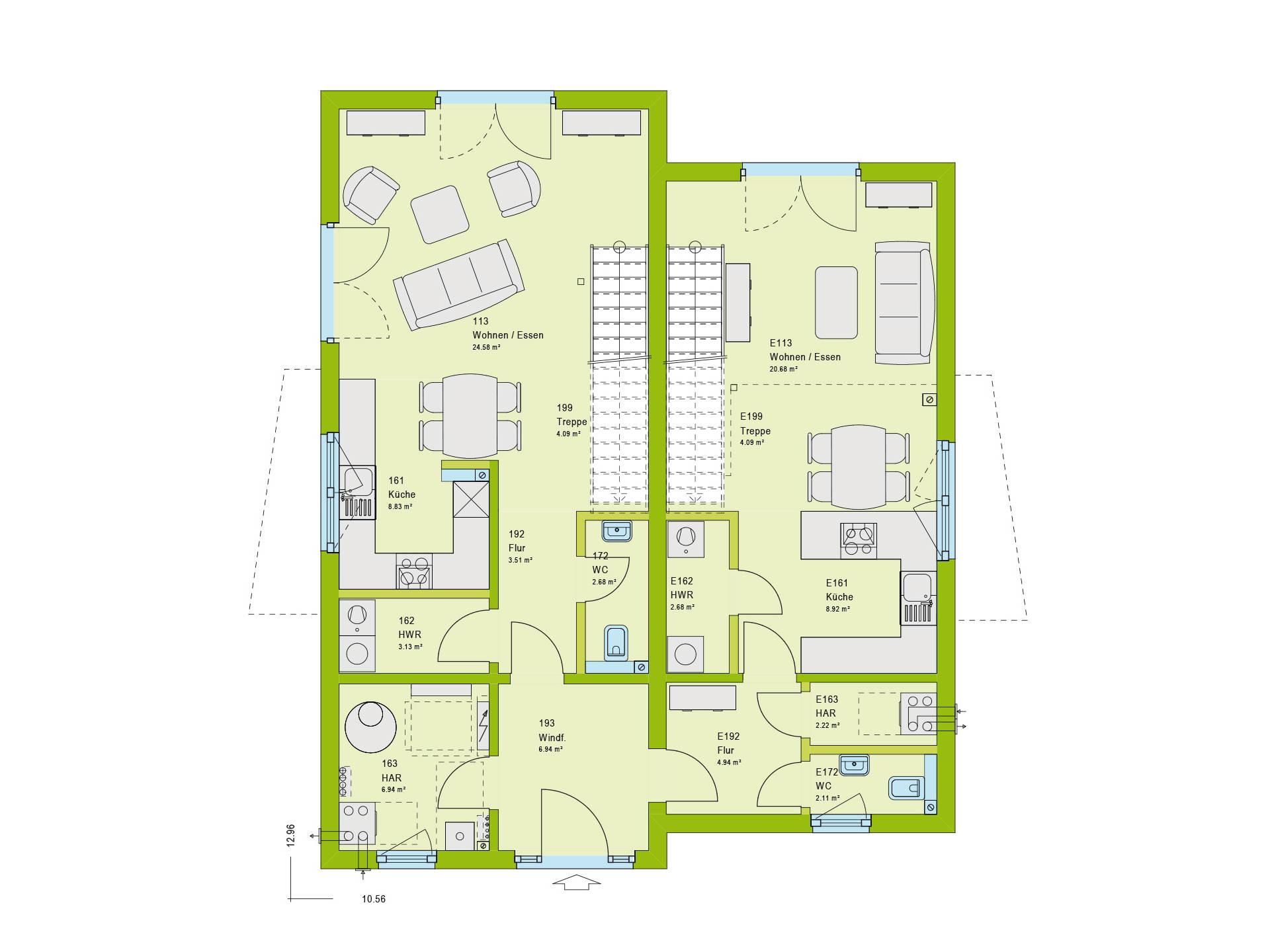 Haus Unique 2 Grundriss EG von massa haus
