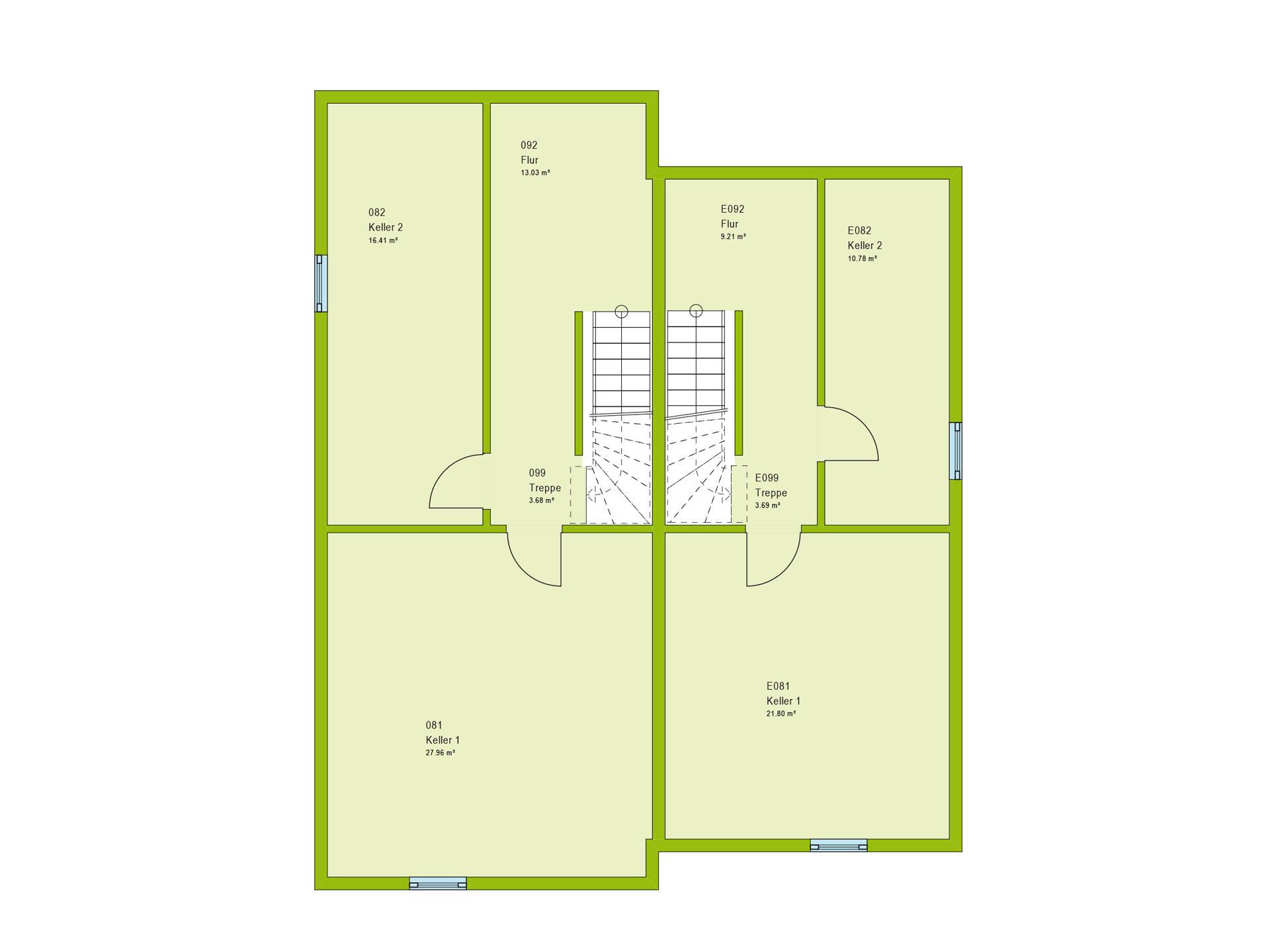 Haus Unique 2 Grundriss KG von massa haus