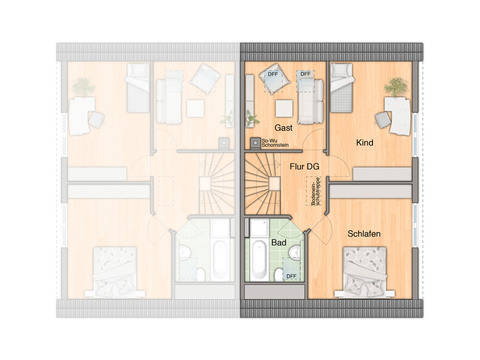 Doppelhaus Behringen 116 Grundriss Dachgeschoss