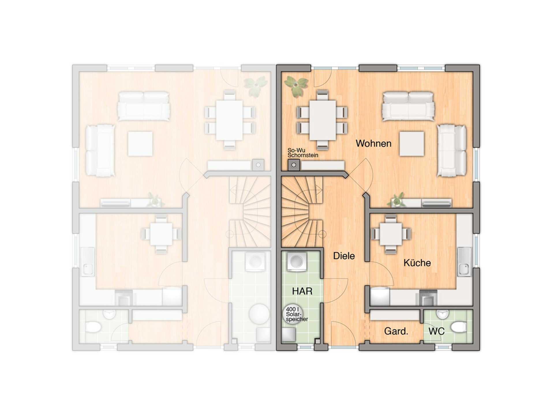 Doppelhaus Behringen 116 Grundriss Erdgeschoss