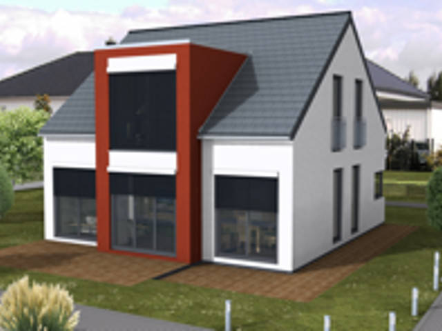 Einfamilienhaus mit Satteldach von Sr System