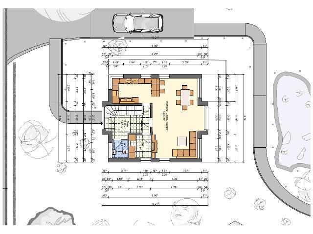 Einfamilienhaus mit Satteldach von Sr System Grundriss Erdgeschoss