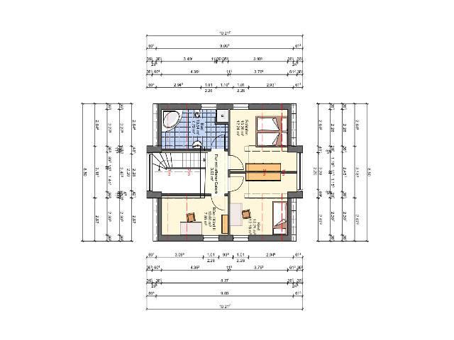 Einfamilienhaus mit Satteldach von Sr System Grundriss Dachgeschoss