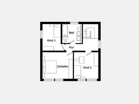 Grundriss Dachgeschoss Hausidee 317.21