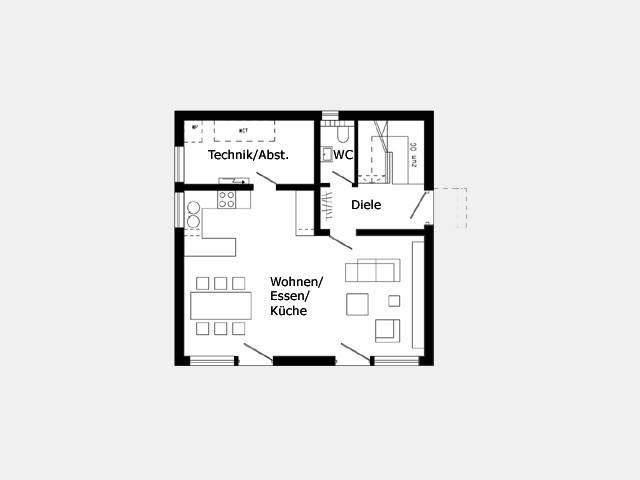 Grundriss Erdgeschoss Hausidee 317.21