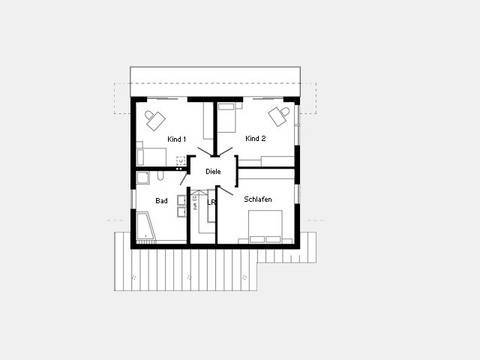 Grundriss Dachgeschoss Kundenhaus - Plan 445.26