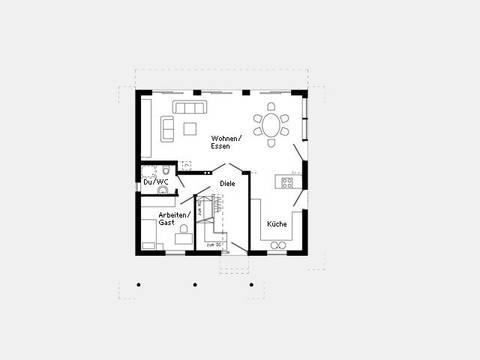 Grundriss Erdgeschoss Kundenhaus - Plan 445.26