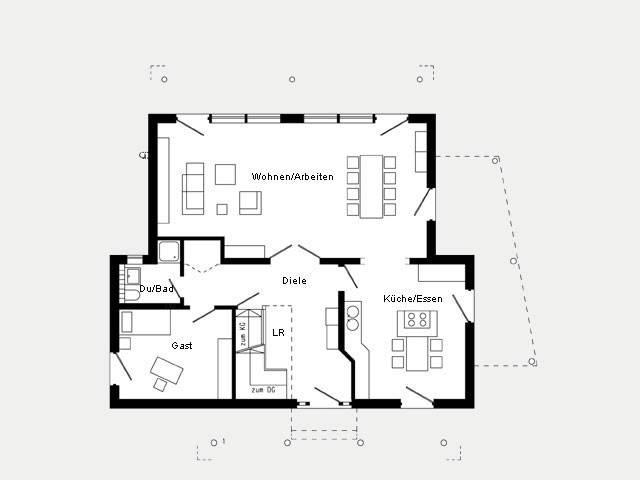 Grundriss Erdgeschoss Musterhaus Bad Vilbel