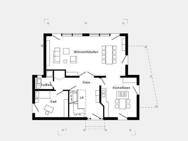 musterhaus bad vilbel plan 676 3 schw rerhaus. Black Bedroom Furniture Sets. Home Design Ideas