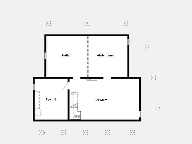 Grundriss Kellergeschoss Musterhaus Bad Vilbel