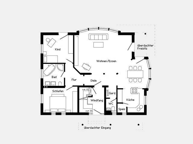 Musterhaus oberstetten plan 229 4 schw rerhaus for Muster grundrisse haus