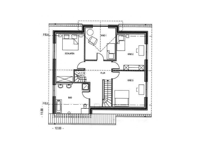 Haus Tegel Grundriss Dachgeschoss