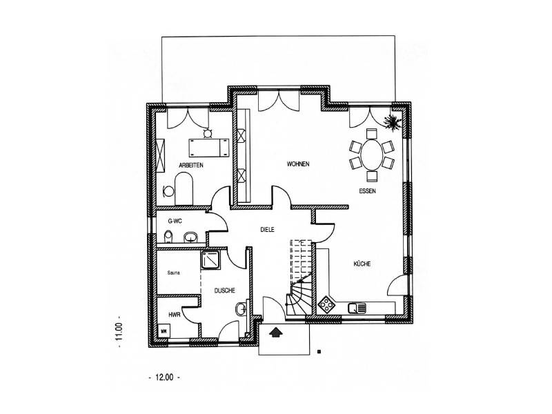 Haus tegel hess massivbau for Muster grundrisse haus