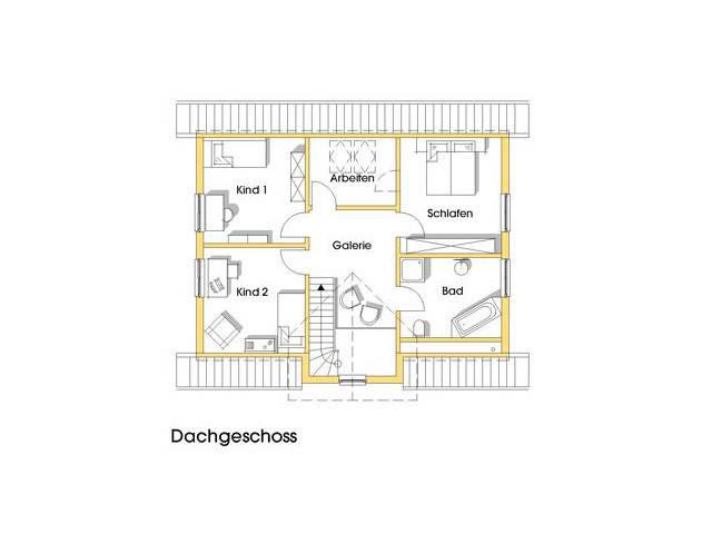 Haus Alexandra Grundriss Obergeschoss