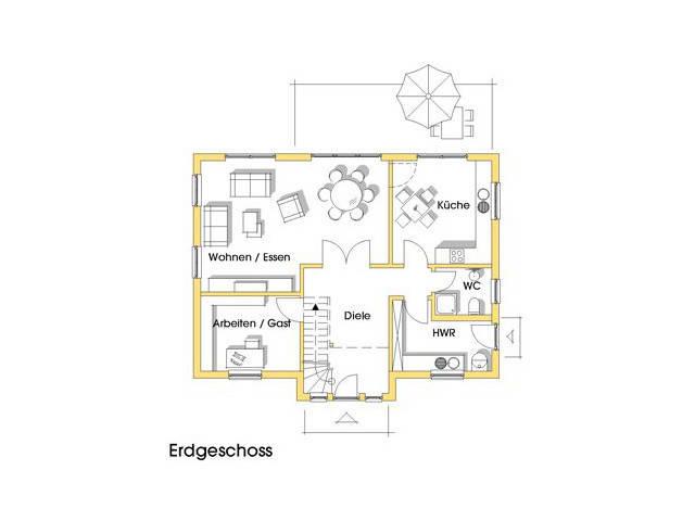 Haus Alexandra Grundriss Erdgeschoss