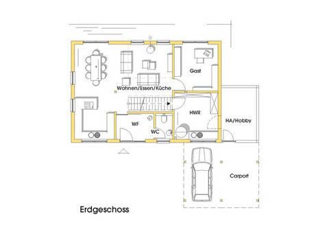 Haus Anke Grundriss Erdgeschoss