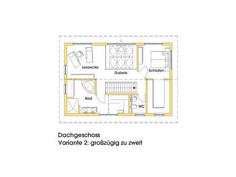 Haus Anke Grundriss Obergeschoss Variante 2