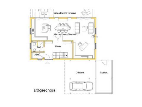 Haus Birgit Grundriss Erdgeschoss