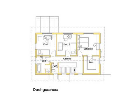 Haus Birgit Grundriss Obergeschoss