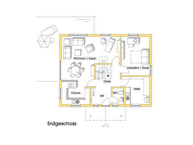 Haus Carmen Grundriss Erdgeschoss