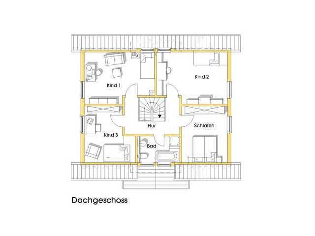 Haus Carmen Grundriss Obergeschoss