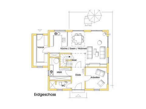 Haus Christine Grundriss Erdgeschoss