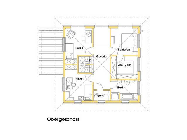 Haus Christine Grundriss Obergeschoss