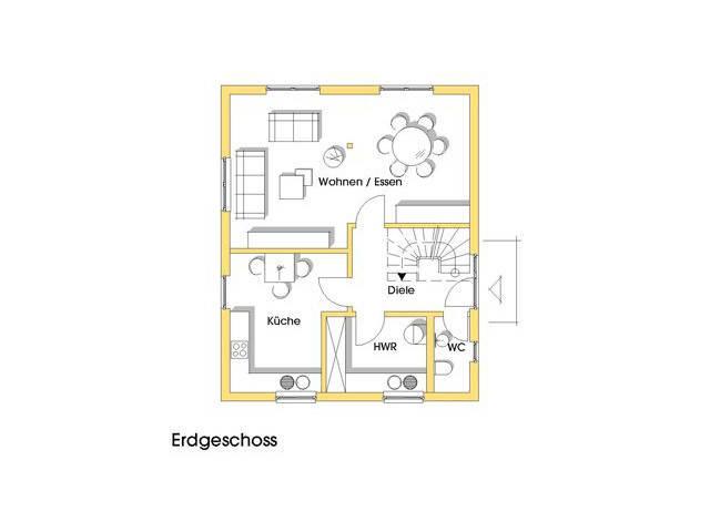 Haus Isa Grundriss Erdgeschoss
