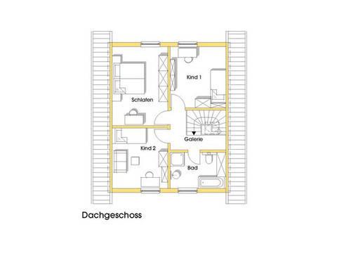 Haus Isa Grundriss Obergeschoss