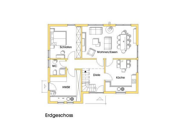 Haus Julia Grundriss Erdgeschoss