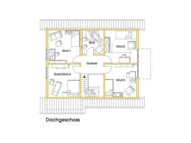 Haus Julia Grundriss Obergeschoss