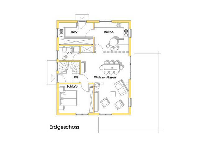 Haus Jutta Grundriss Erdgeschoss