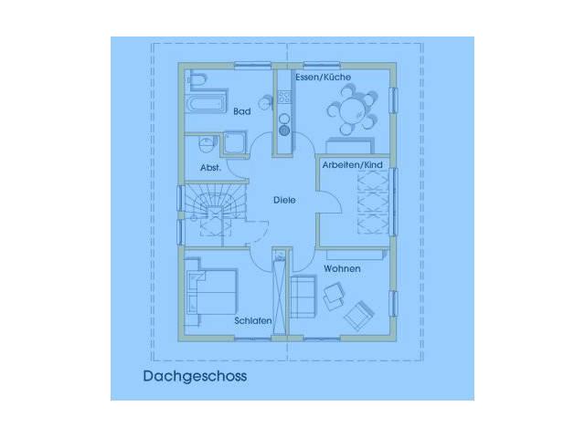 Haus Jutta Grundriss Obergeschoss