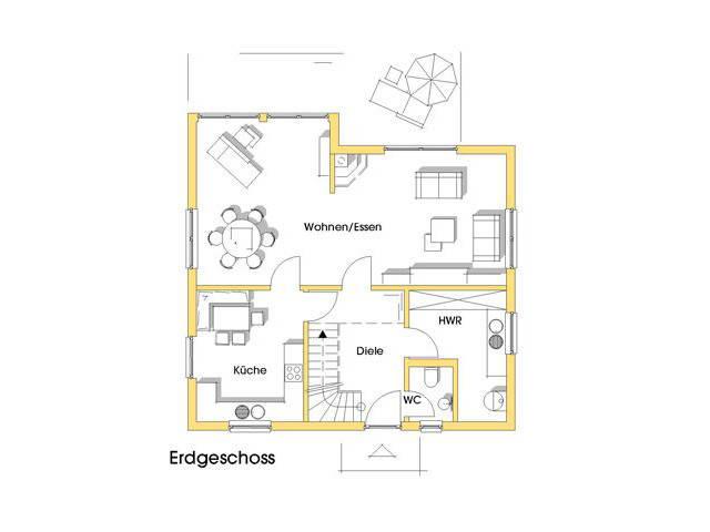 Haus Kathrin Grundriss Erdgeschoss